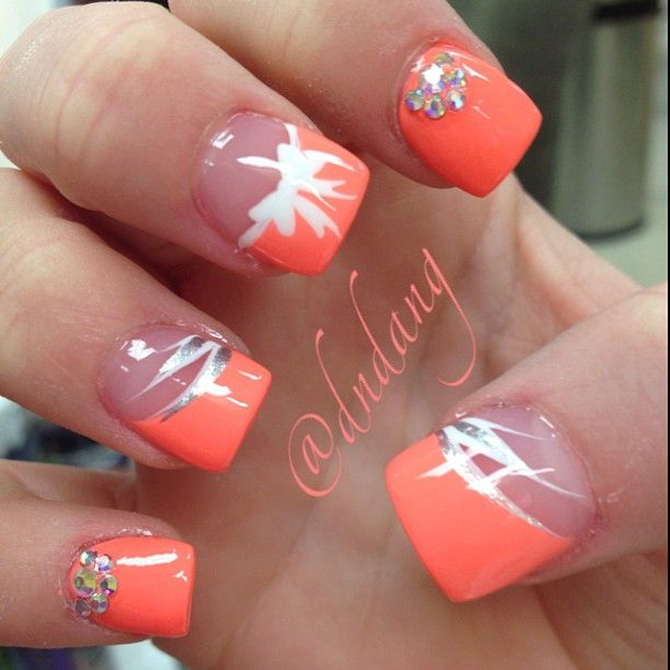 Instagram photo by dndang yhose is too cute nice color for spring #nails #nailart