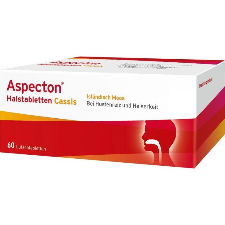 ASPECTON Halstabletten Cassis Lutschtabletten:   Packungsinhalt: 60 St Lutschtabletten PZN: 07020572 Hersteller: Krewel Meuselbach GmbH…