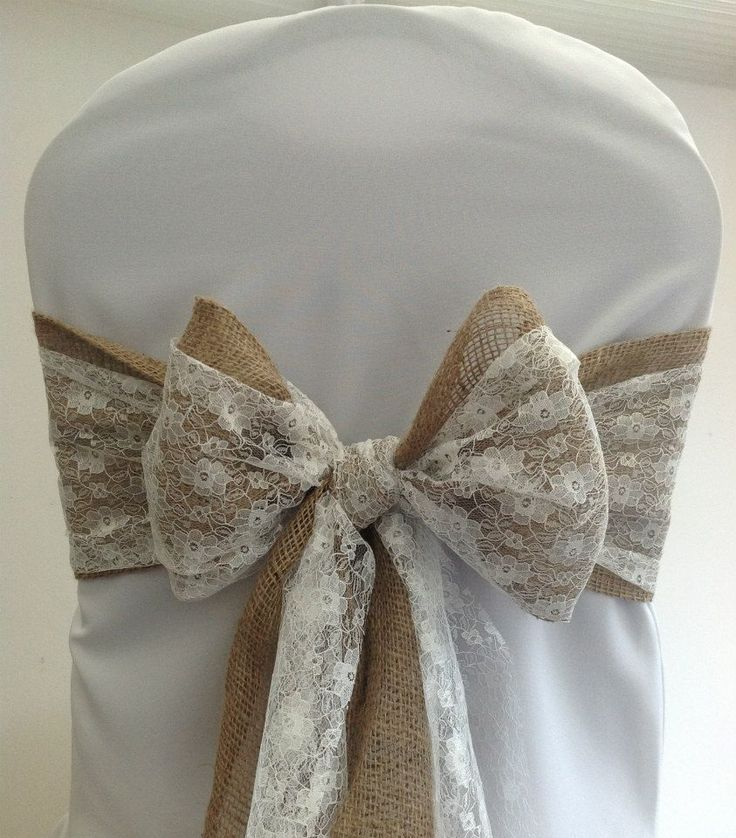 Hessian & Lace Bow