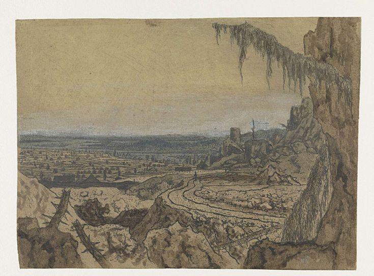 Landschap met de sparretak, Hercules Segers, ca. 1615 - ca. 1630