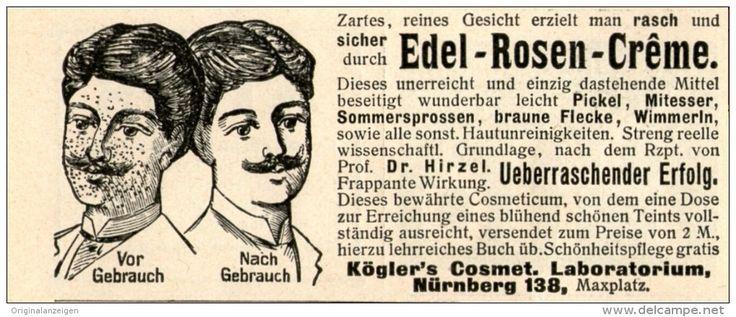 Original-Werbung/ Anzeige 1905 - EDEL ROSEN CREME / KÖGLER NÜRNBERG  - ca. 90 x 40 mm