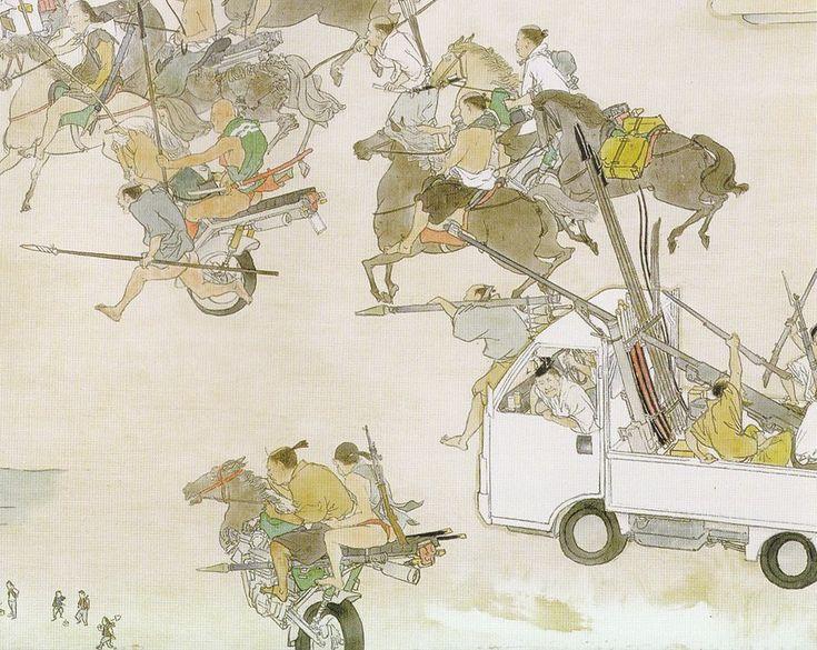 Amazing, ironic panoramas of Japan as imagined by artist Akira Yamaguchi