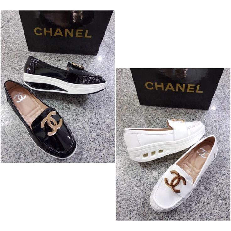 Promo Sepatu Chanel Wedges 4926 6cm Apricot 39 Black 39,40 195rb
