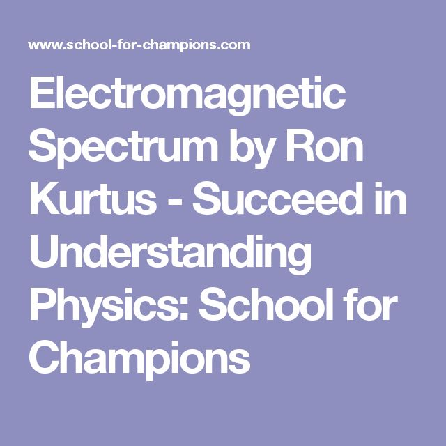 Electromagnetic Spectrum by Ron Kurtus - Succeed in Understanding Physics: School for Champions
