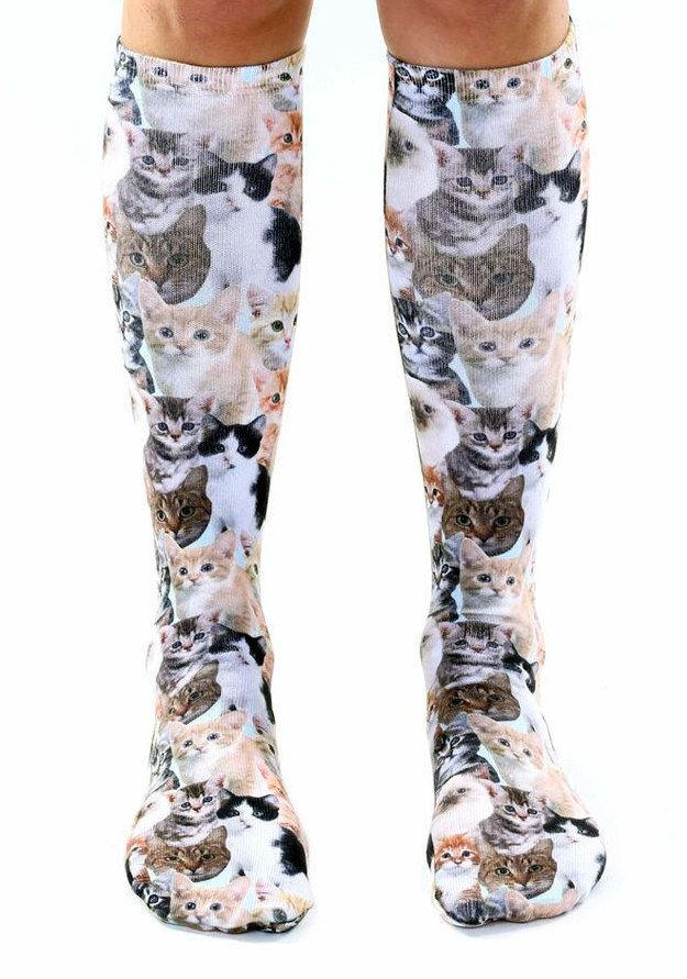If you're cool enough, you can kick it with these kitties. | 17 Pairs Of Cat-Themed Socks You Need Right Meow