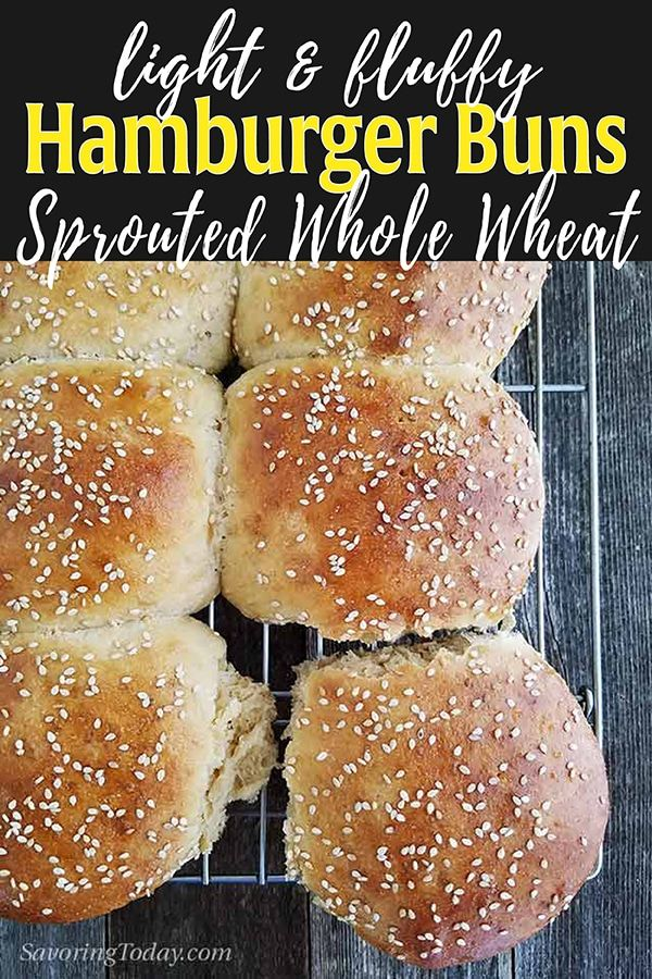 In This Sprouted Wheat Burger Bun Recipe You Ll Learn How To Work With Sprouted Wheat Flour To Make The Healthiest Hambu Burger Buns Burger Buns Recipe Recipes