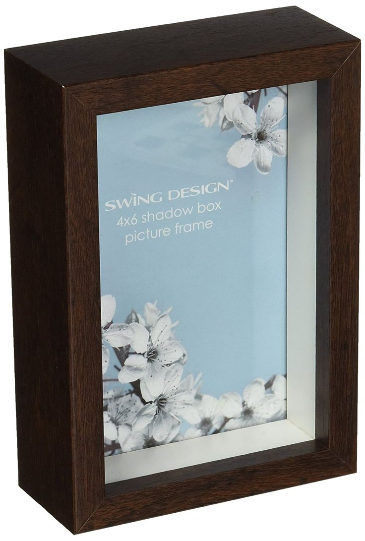 473 best picture frames images on pinterest frame frames and swing design chroma shadow box frame 4 by 6 inch walnut jeuxipadfo Image collections