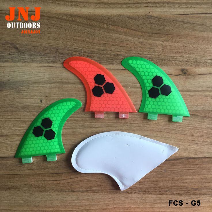 JNJ colorful surfboard FCS M G5 thruster fins made by honeycomb and fiberglass with keys #Affiliate