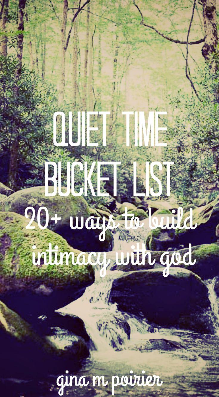 Quiet Time Bucket List | Devotional Ideas