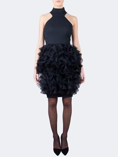 Beauty Woolen Silk Dress by Heidi Paula x MUUSE, TEKO | muuse.com