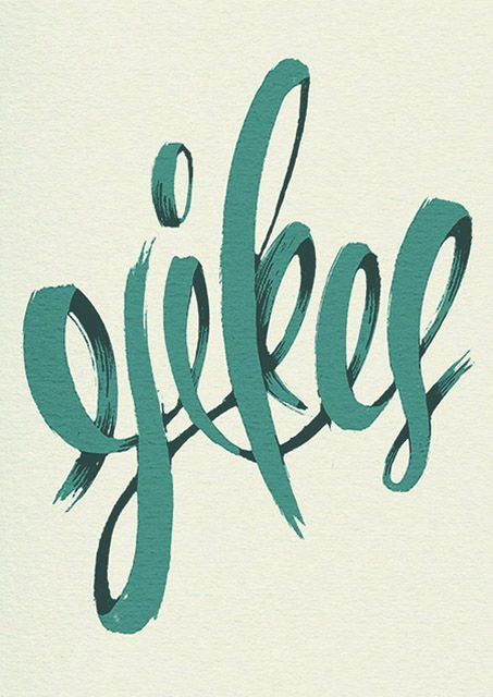 Yikes poster by Michael Sungaila.: Books Covers, Illustrations Posters, Graphics Design Illustrations, Picture-Black Posters, Covers Books, Scripts Typography, Brushes Strokes, Fonts, Hands Drawn