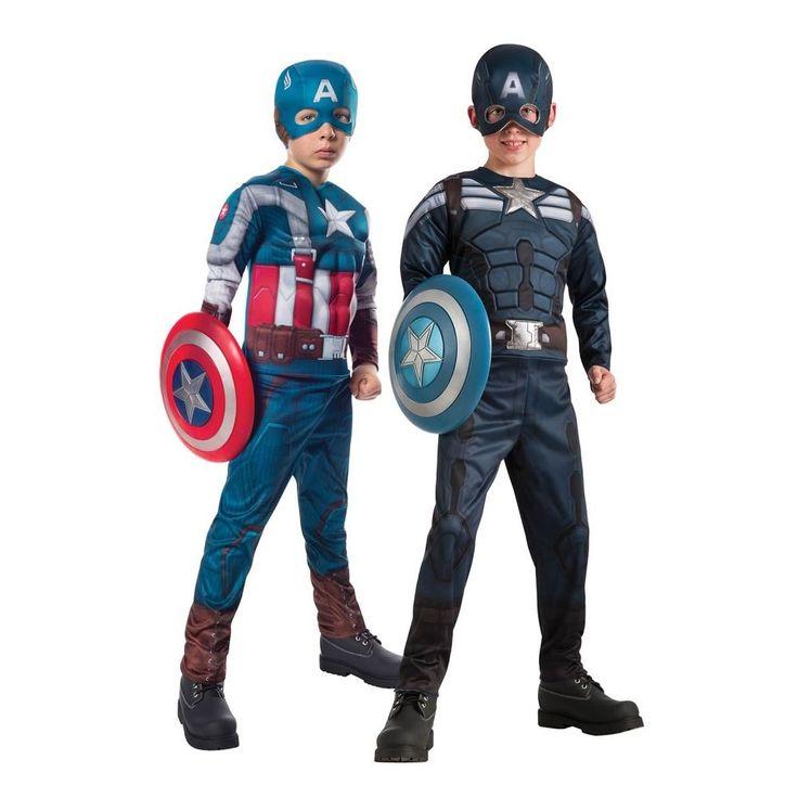 Captain America Costume Kids Halloween Fancy Dress Up #HalloweenResourceCenterInc