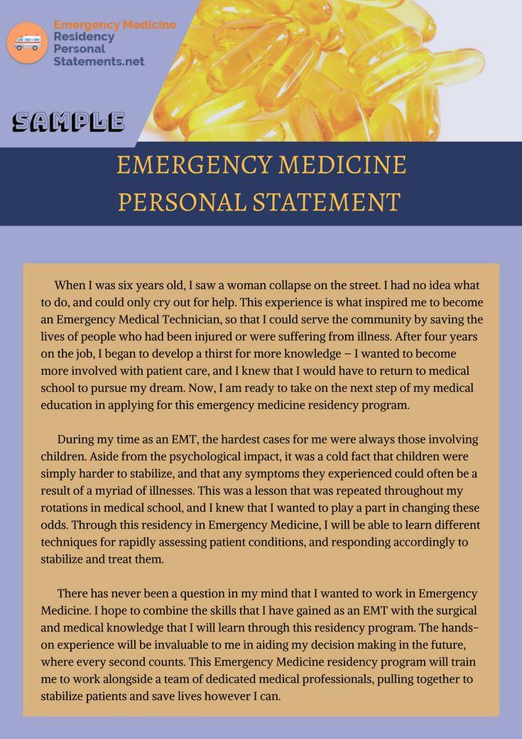 Residency Personal Statement Samples (robertoliveira9810) no Pinterest