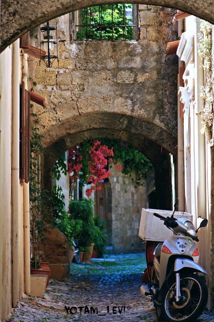 Pretty Alley in Karpenisi, Greece