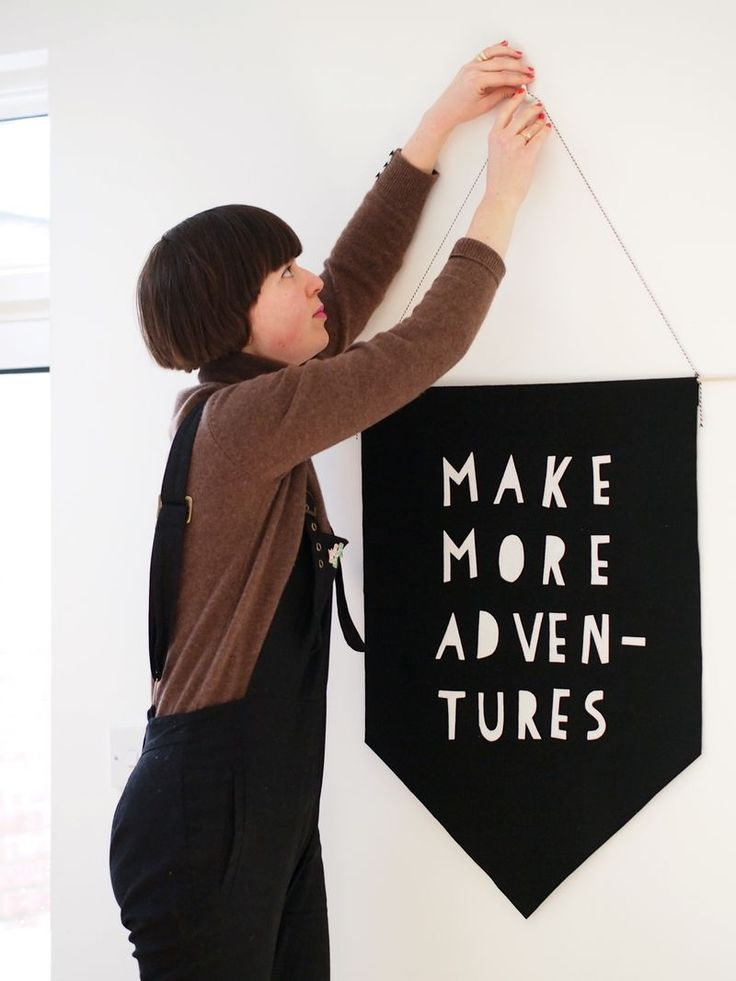 Get inspired with a no-sew resolution banner.