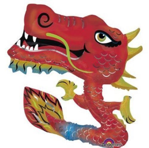 Chinese-New-Year-Oriental-Party-Supplies-Large-Dragon-Foil-Balloon-78cm-x-101cm
