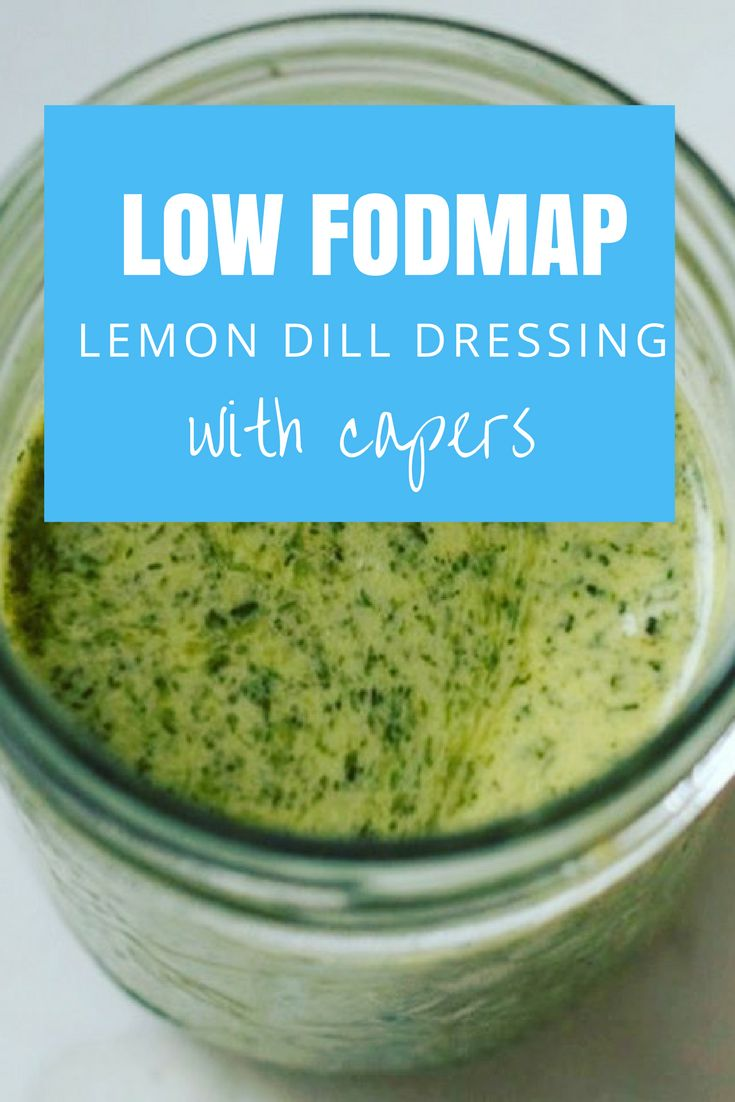 IBS-friendly Low FODMAP Lemon Dill Dressing with Capers