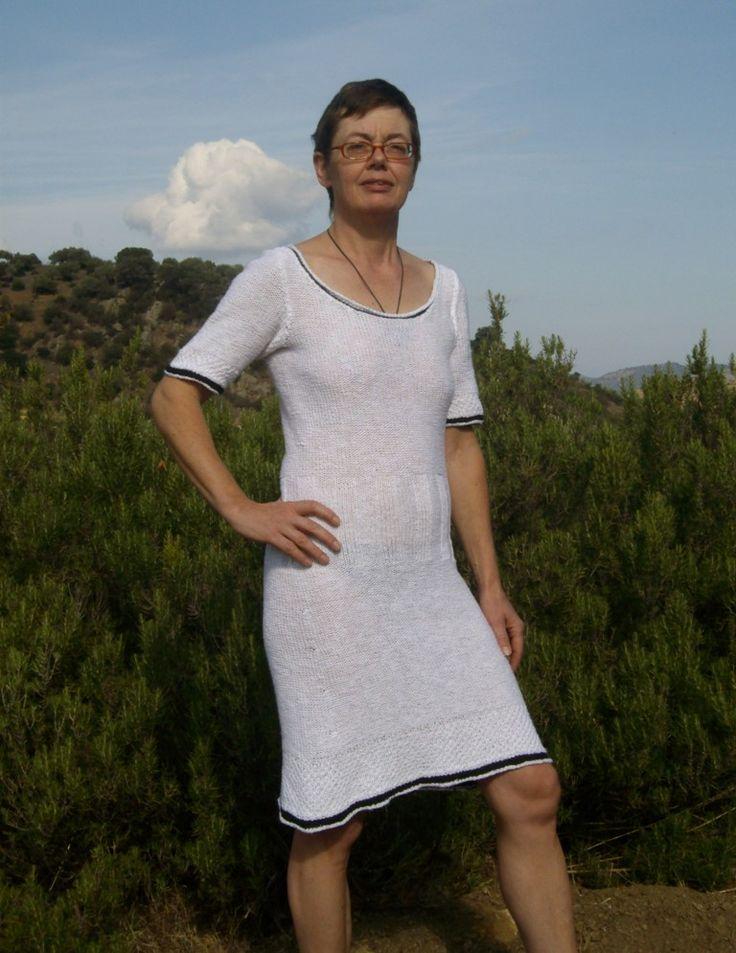 ARMERINA, handgestrickt Kleid der Baumwolle von domoras