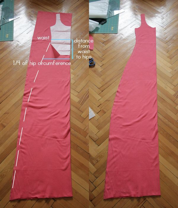 Simple summer jersey maxi dress (DIY)   Pearls and Scissors