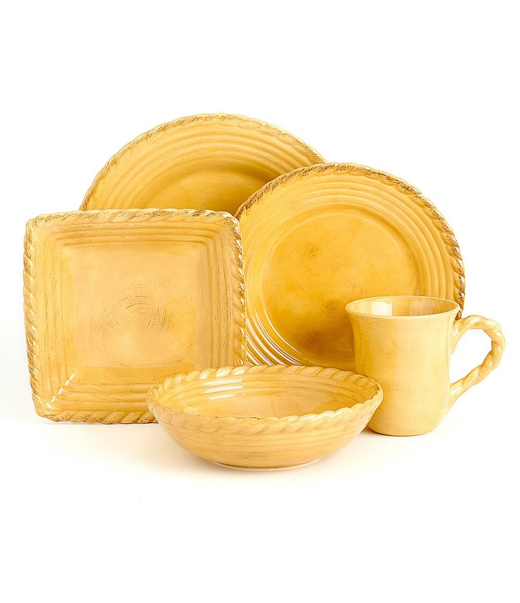 Artimino Tuscan Countryside Yellow Dinnerware Dillards This Would Look Good If You Mixed