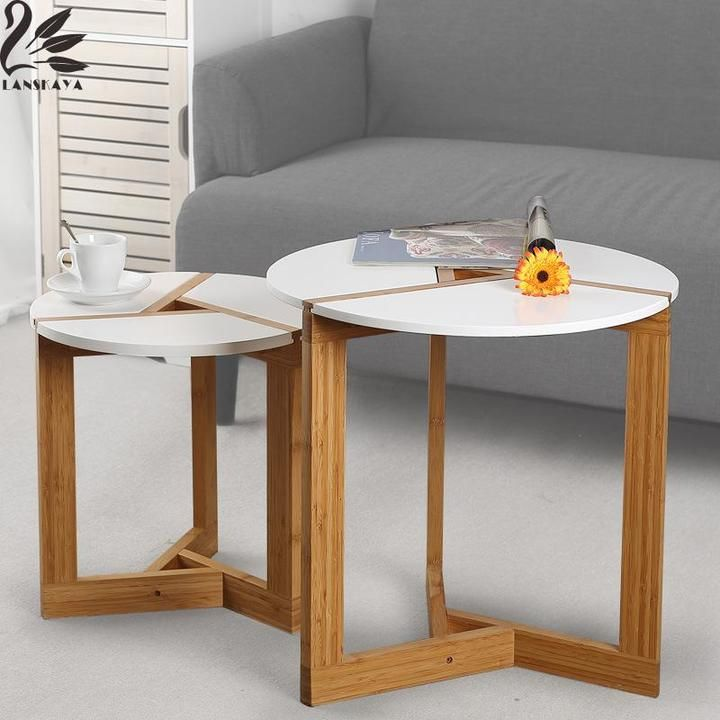 These Modern Bamboo Coffee Tables Are Great On Their Own Or Nested