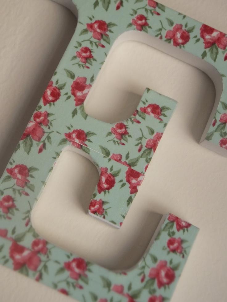letras decorativas con washi tape