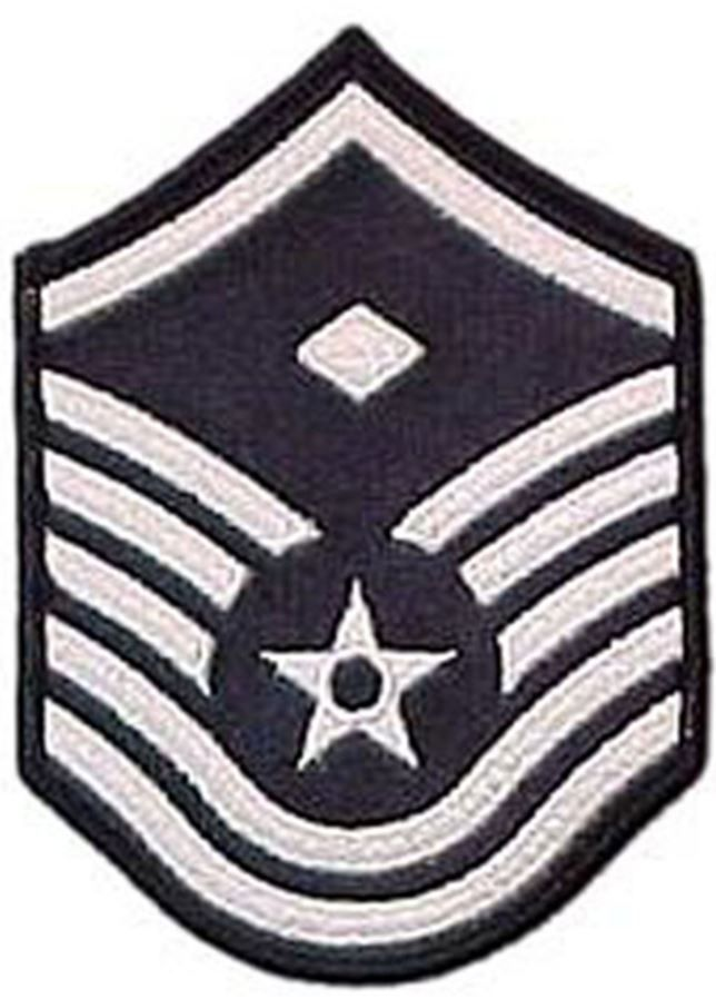 Air Force MSgt With Diamond (1st Sgt) Blue Chevron Large Rank