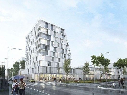 Propuesta Ganadora para Colegio y Residencia Estudiantil / Chartier Dalix Architectes,Cortesía de Chartier Dalix Architectes