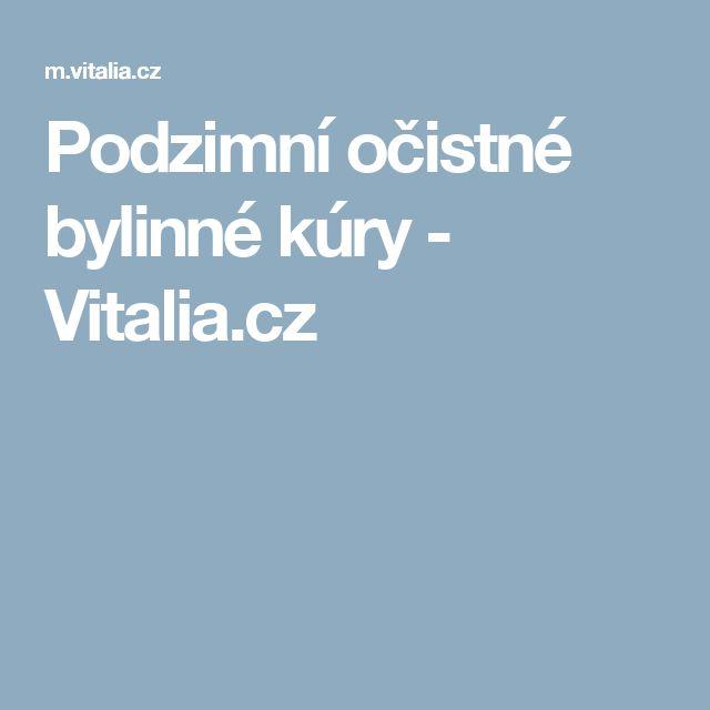 Podzimní očistné bylinné kúry - Vitalia.cz