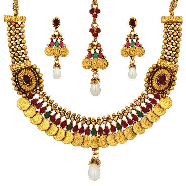 Temple Stone Necklace Set
