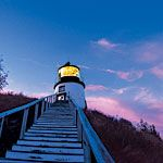 Owls Head Light, Owls Head, Maine.....we were there several years ago and yes the stairs are that steep!