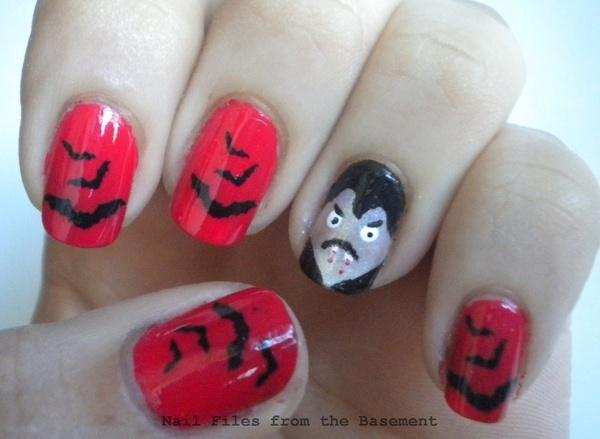 cute vampire nails