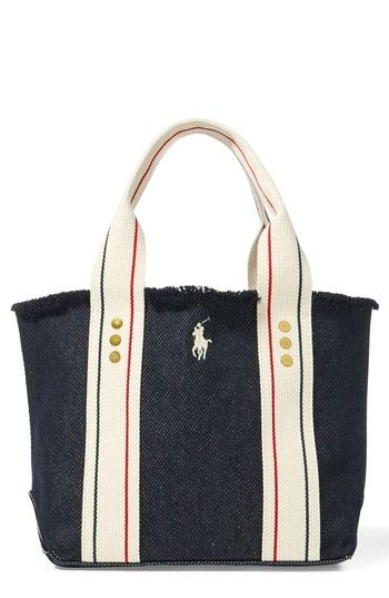 6292779fc5b7 POLO RALPH LAUREN SMALL PONY CANVAS TOTE - BLUE.  poloralphlauren  bags   hand bags  canvas  denim  tote
