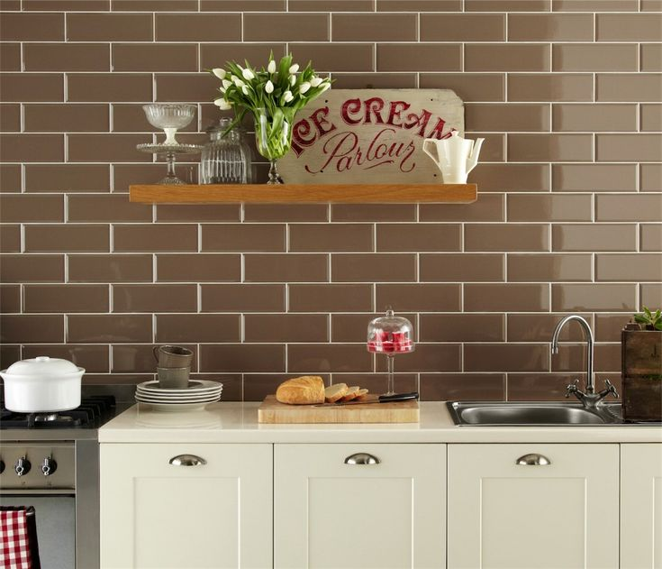 pictures of subway tiles in kitchens | Go for classic good looks with the Metro brick tiles in Cream