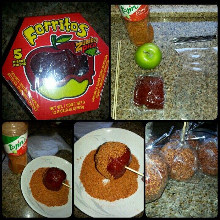 Green Apples with Tamarindo and Tajin. #Applepops