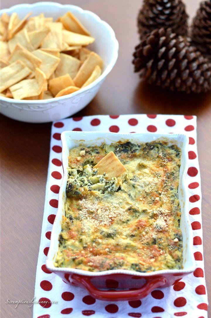Skinny Spinach Artichoke Dip | Recipe | Spinach Artichoke ...