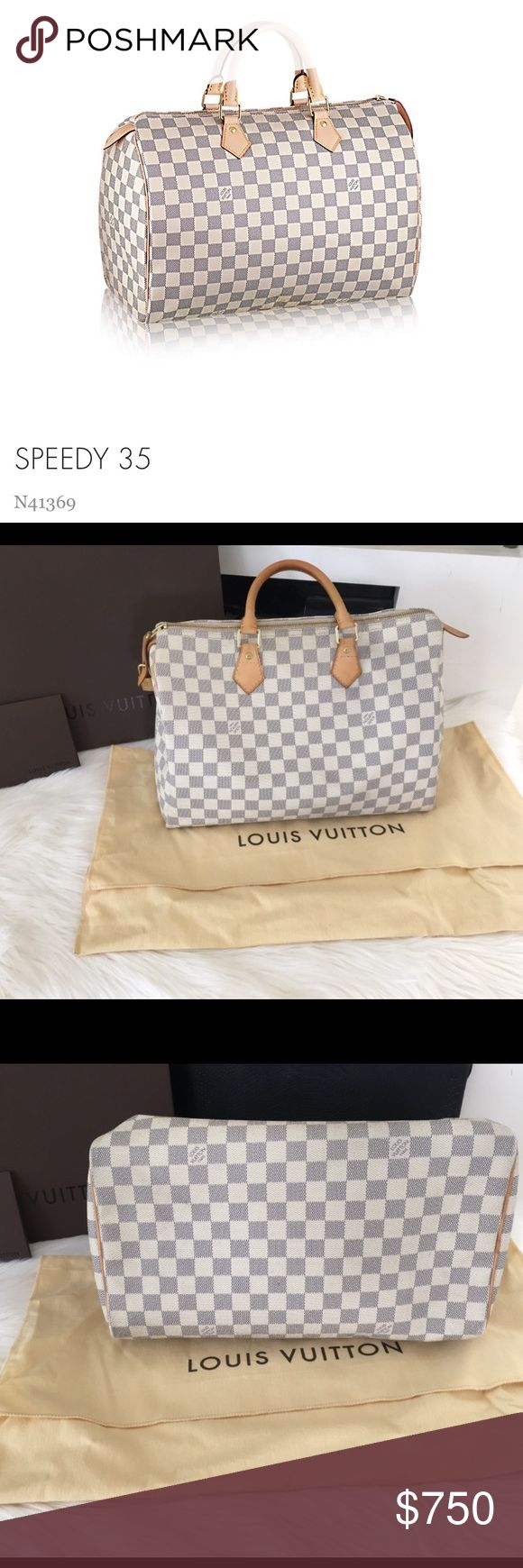 Louis Vuitton Speedy 35 Damier Canvas Lightly used . Excellent used condition. No trades . Comes with box and dust bag . Reasonable offers welcome. Retail price 990$. Please see measurements above. Louis Vuitton Other