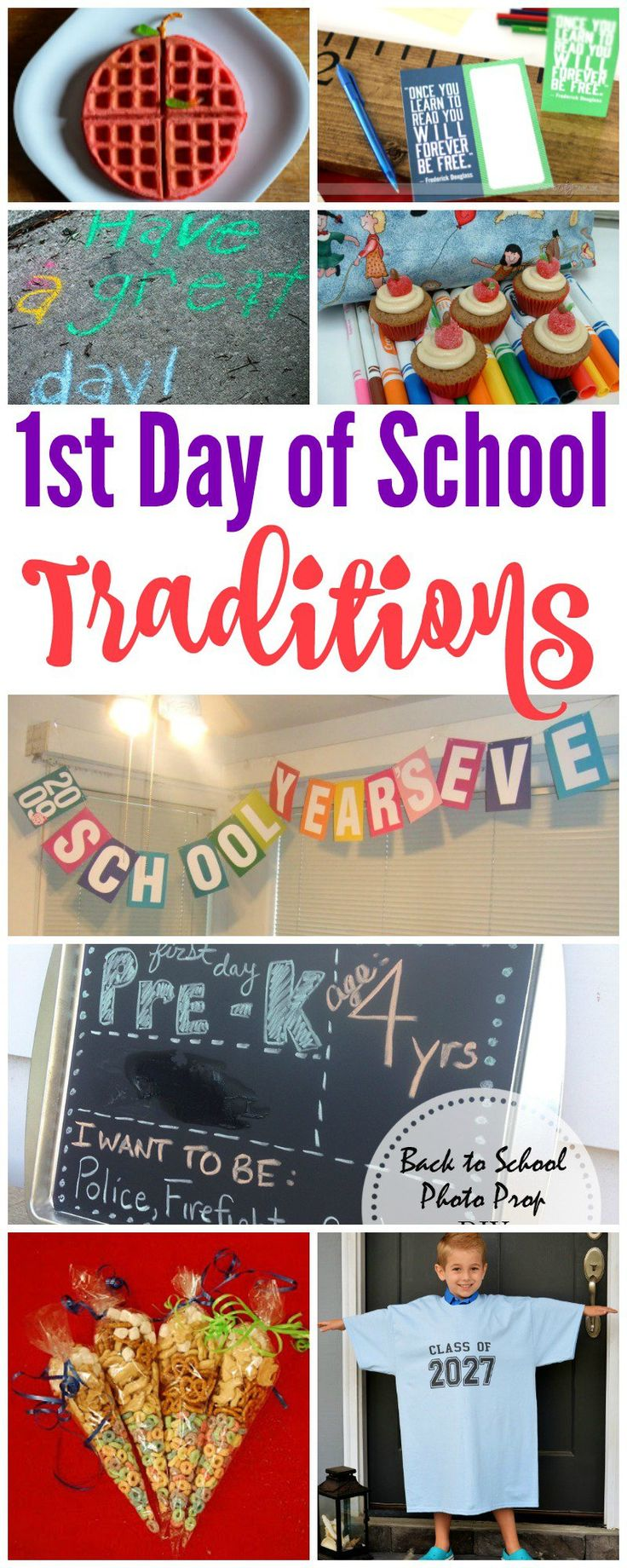 1st Day of School Activities for Kids! How to celebrate the new school year with your kids!