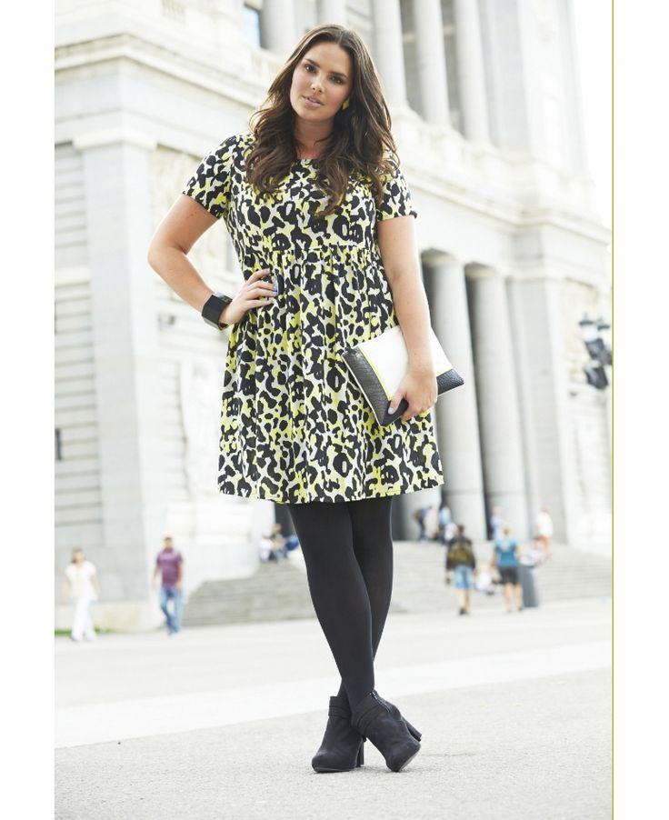 Animal Print Smock Dress - Regular at Simply Be