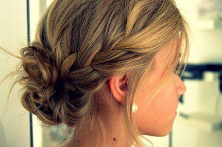 medium hair styles for women updo