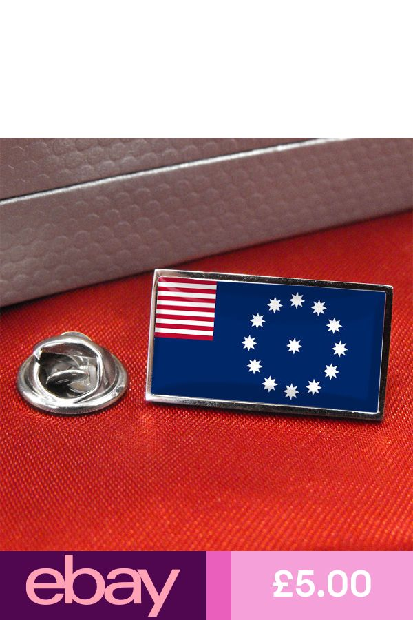 Easton PA USA Flag Lapel Pin Badge