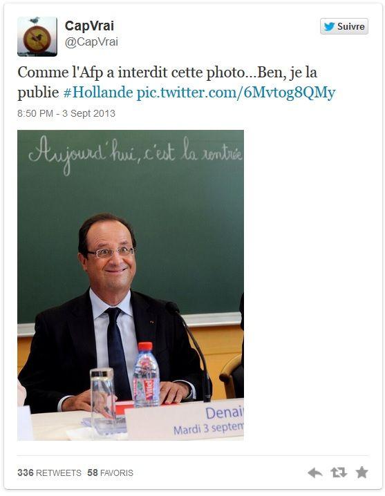 L'AFP décide de censurer une photo de François Hollande après l'avoir mise en ligne !
