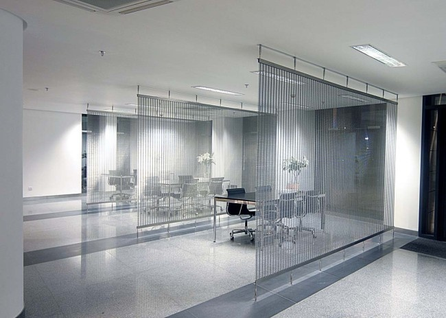 Metal Partition Walls : Creative weave decorative wire mesh applications partition