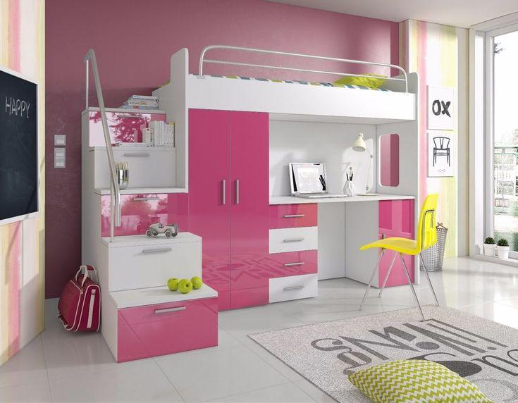bunk bed with mattress wardrobe desk bed stairs kids furniture
