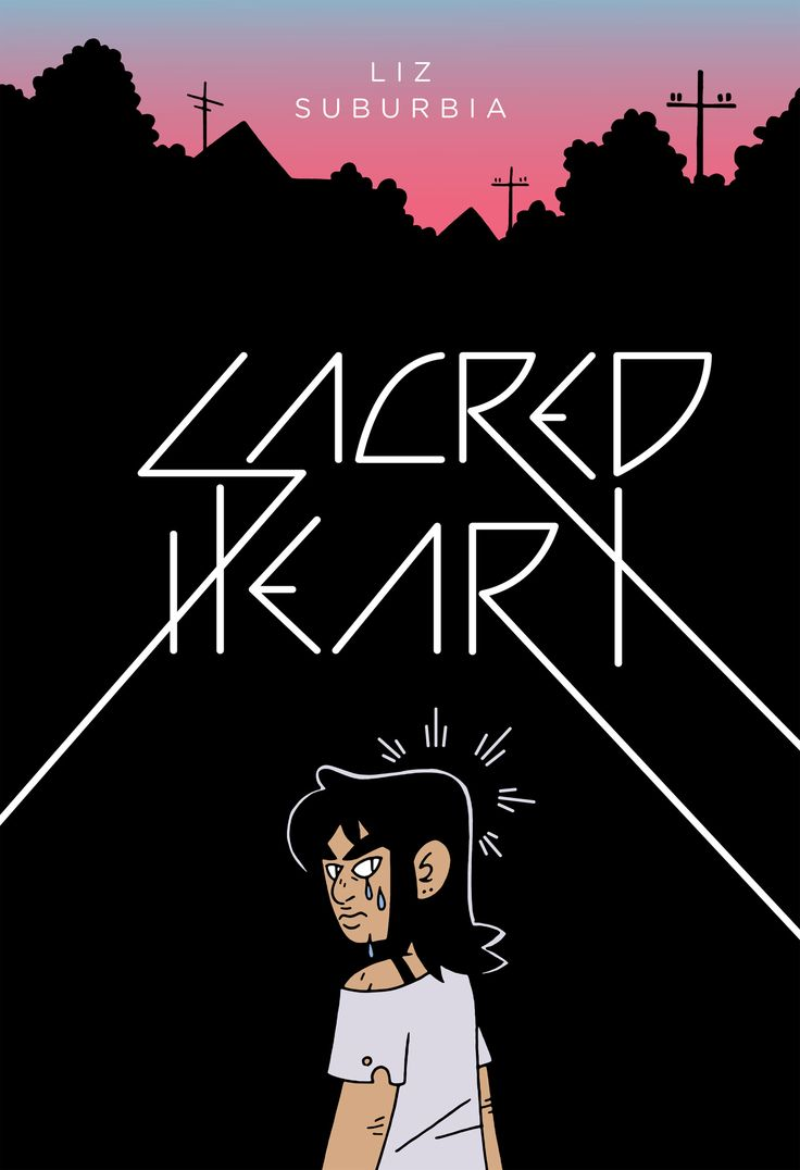 """Sacred Heart"", by Liz Suburbia - There's an absence of authority in the town of Alexandria, and the teens are trying to keep their makeshift society together until their parents return. But students keep dying mysteriously, local band The Crotchmen rock the nights away, freshmen palm readers and seers have lines out the door, and Ben Schiller is fed up with her sister Empathy's disappearing act."