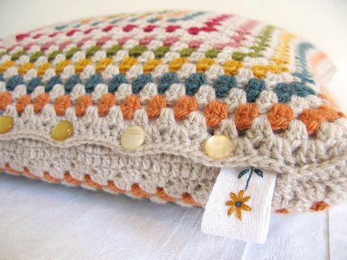 Granny square pillow.
