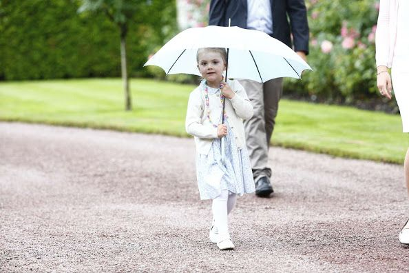 Crown Princess Estelle of Sweden at 38th Birthday celebrations of Crown Princess Victoria of Sweden at Solliden Palace on July 14, 2015 in Oland, Sweden.