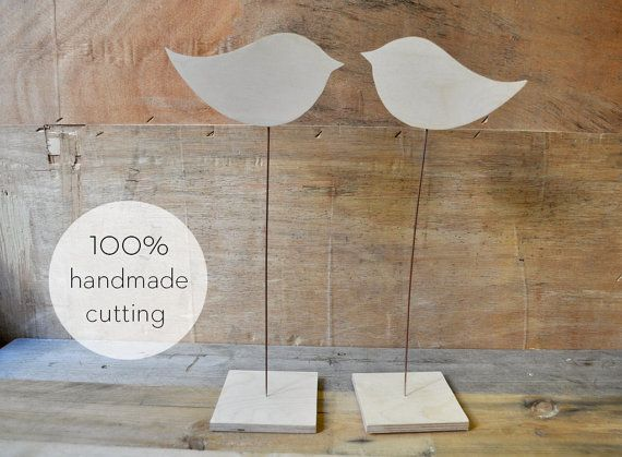Decorative birds throughout your home! Υou can decorate your table at home or table of your wedding!  Feel free to tell us what you want to cut it for you in any size, thickness and shape you want!
