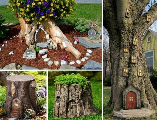 58 best ideas about tree stumps on pinterest gardens for Idea behind fairy doors