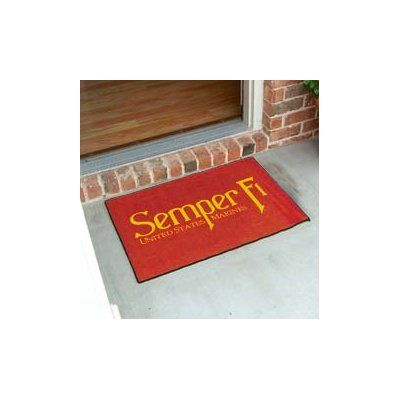 "FANMATS United States Armed Forces Doormat Rug Size: 2'10"" x 3'8.5"""